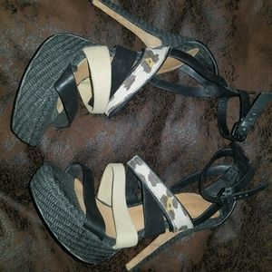 L.A.M.B platform High heeled sandal